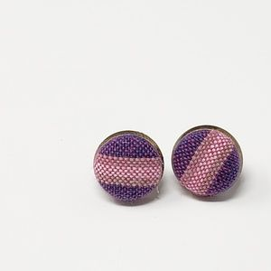 New Handmade | Upcycled Button Stud Earrings